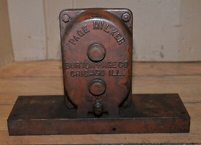 Rare Page Milker Burton Co M201 Gear Box 201 Speed Reducer Worm Drive Logging