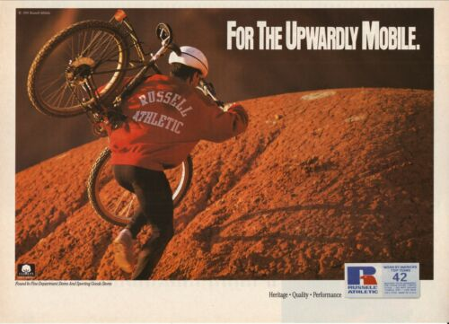Russell Athletic--Cycling--For The Upwardly Mobile--1991 Magazine Advertisement