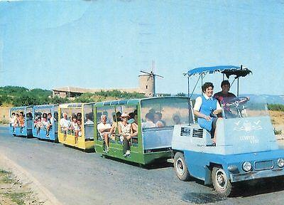 Alte Postkarte - Slantschev Brjag - Der kleine Zug