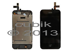 iPhone 3GS LCD Display Touchscreen Komplettset