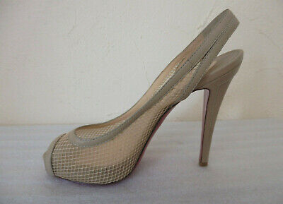 Christian louboutin - sandales - escarpins - pointure 37,5 eu - authentique