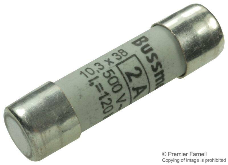 EATON BUSSMANN SERIES - C10G2 - FUSE, 2A, 10X38, 500V,15PK