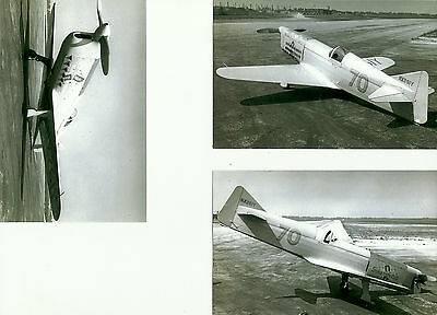 LOT OF 3 TONY LEVIER'S FIRECRACKER  RIDER R-4 SHENFELDT AIRPLANE PHOTOGRAPH #53