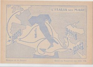 ITALY 1929 FUTURISM FASCISM PROPAGANDA ITALY IN THE SEAS.THE GREAT ITALY - Italia - ITALY 1929 FUTURISM FASCISM PROPAGANDA ITALY IN THE SEAS.THE GREAT ITALY - Italia