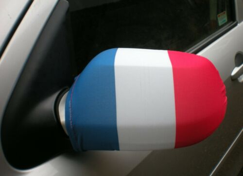 Six Nations Rugby CAR WING MIRROR SOCKS FLAGS COVERS - FRANCE FRENCH TRICOLOUR