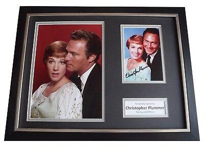 Christopher Plummer Signed Framed Photo Autograph 16x12 display Sound of Music