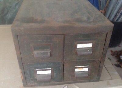 Vintage filing index cabinet , 4 draw office desk top , working