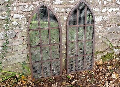 Vintage Gothic, iron mirrored window frames - decorative, interior or exterior.