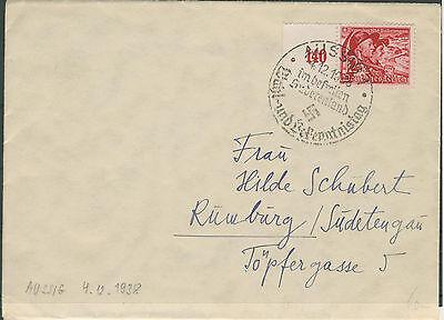 DR 685 auf Brief von Aussig nach Rumburg (632041)