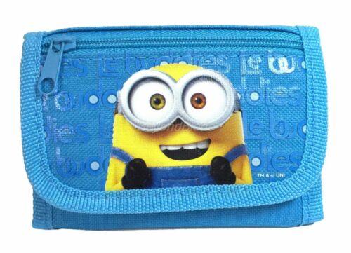 Minion wallet Light Blue Children Boys Girls Wallet Kids Cartoon Coin Purse
