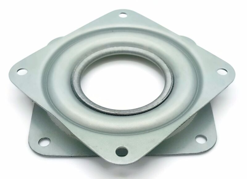 """One Square 3"""" Inch Lazy Susan Turntable Bearing - 5/16"""" Thick & 200 LB Capacity"""