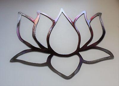 Jardín Flor de Loto Fucsia Tainted Metal Decoración de Pared 12