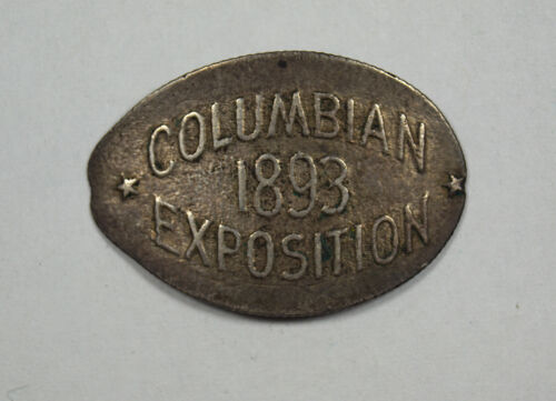 1893 COLUMBIAN EXPOSITION ELONGATED 1888 SEATED LIBERTY DIME