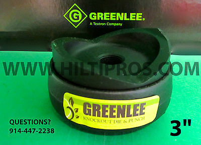 3 Conduit Greenlee Knockout Punch Die Set Brand New Fast Shipping
