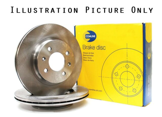 2x Genuine Comline To Fit Mazda 6 626 323 Front Axle Brake Discs Vented ADC0443V