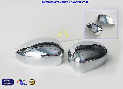 Calotte Specchietti Cromate Fiat 500 2007> auto specchietto retrovisore DX SX 2