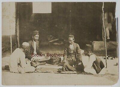 Rare Vintage 1910s Iran Persian Arab Dealers in Peals  Photo - Brown Bros