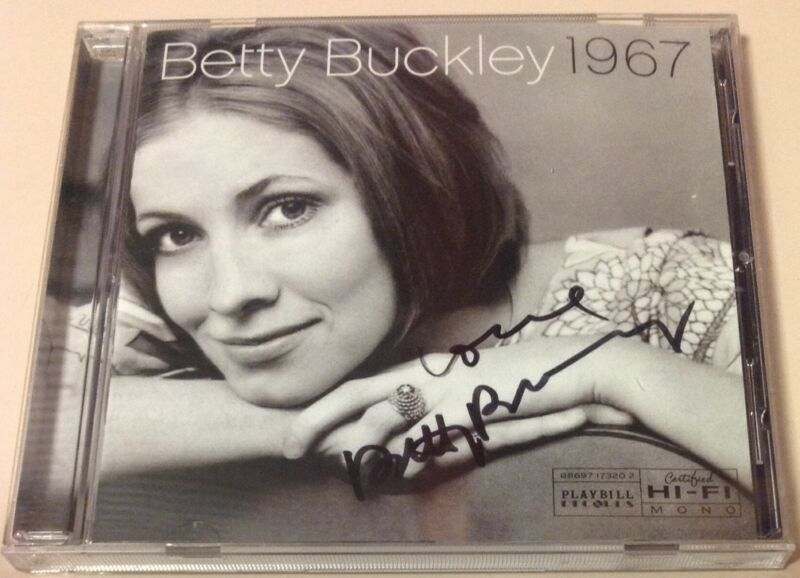 BETTY BUCKLEY 1967 SIGNED CD NYC OCTOBER 2007 THEATER BROADWAY