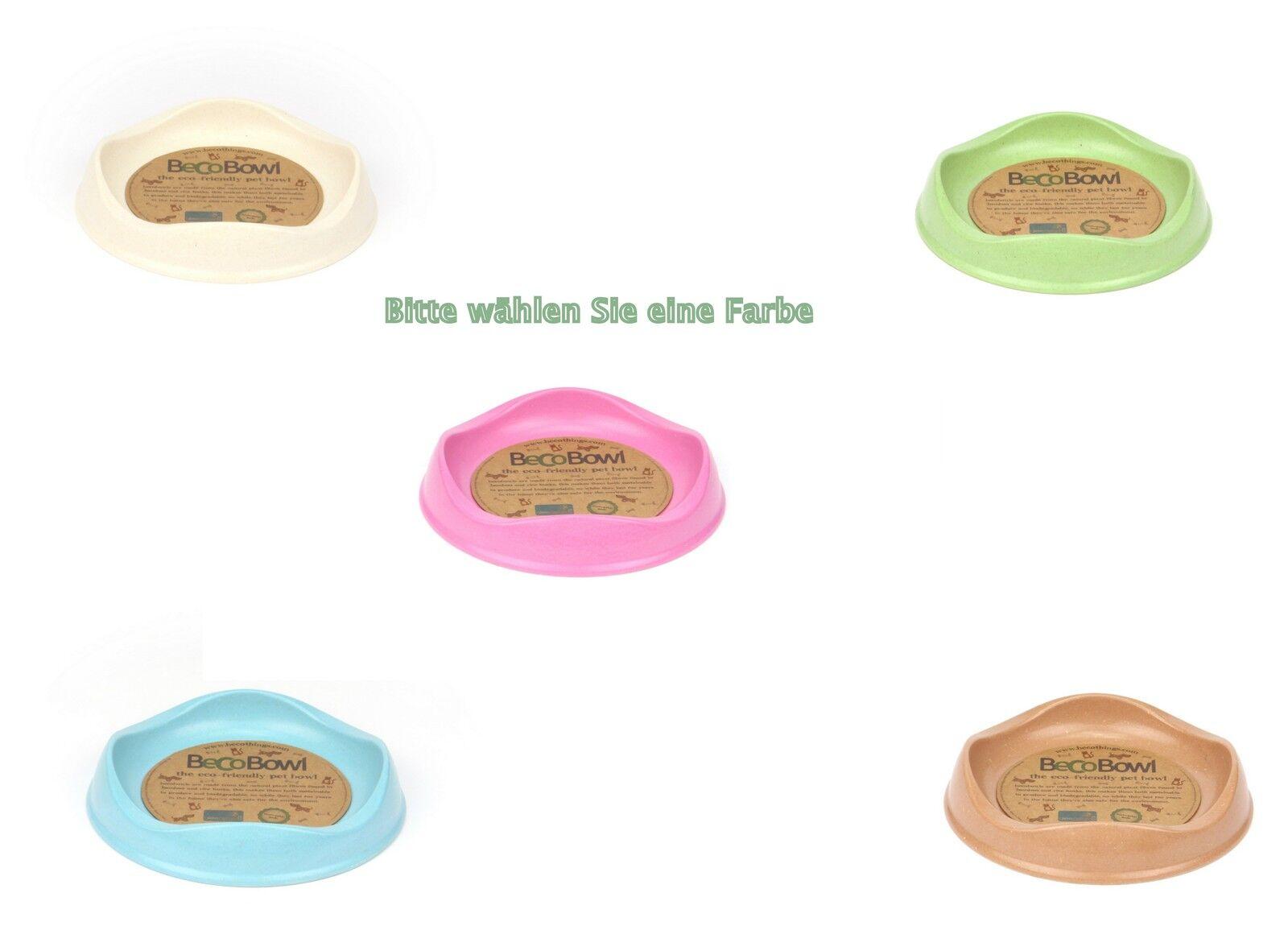 2 x Beco Futternapf für Katzen, nachhaltig, biologisch abbaubar, versch. Farben