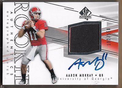 2014 Upper Deck SP Authentic Aaron Murray Jersey Auto Rc Serial # to 550 for sale  Lancaster