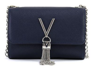 VALENTINO Divina SA Lady Crossover Bag Umhängetasche Tasche Blu Blau Neu