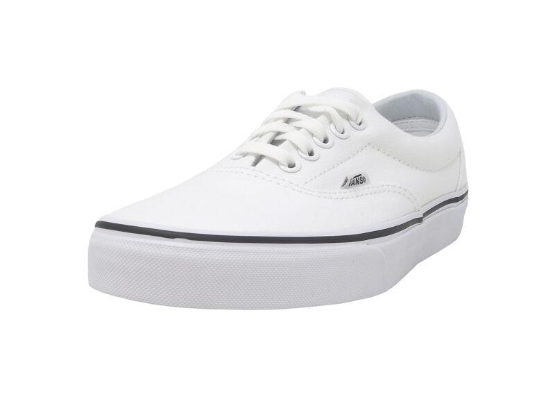 VANS Era True White Canvas Lace Up Fashion Sneakers Waffle Sole Adult Men Shoes