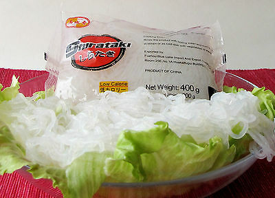 ( 0,62€ / 100g) 20x400g Konjak Shirataki Spaghetti Nudeln 20x200g Abtropfgewicht