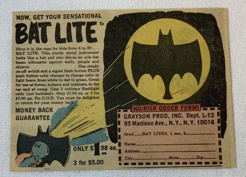 1966 cartoon ad ~ BATMAN BAT LITE