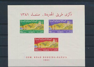 LO16650 Yemen 1961 road hodeida-sana'a imperf sheet MNH