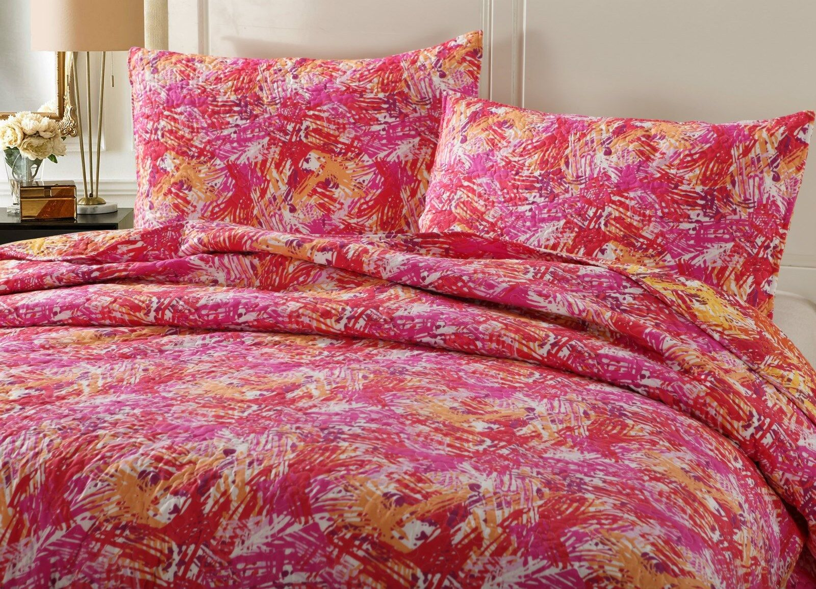DaDa Bedding Perfect For Autumn Starburst Pop Colorful Pink