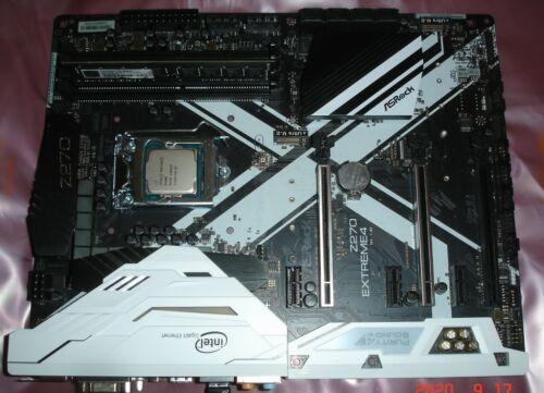 Asrock Z270  Extreme4 Motherboard + Pentium G4600 cpu + 8 GB Ram Combo LGA 1151