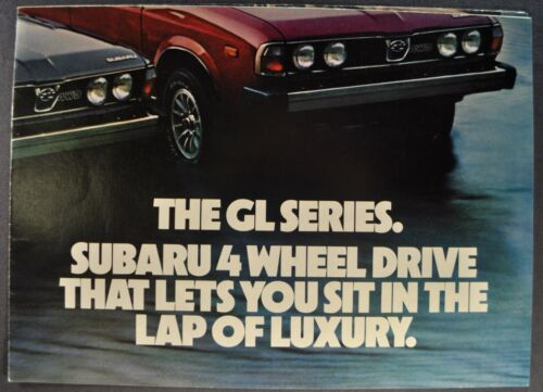 1979 Subaru Poster Brochure Folder Brat 4x4 DL Wagon Excellent Original 79