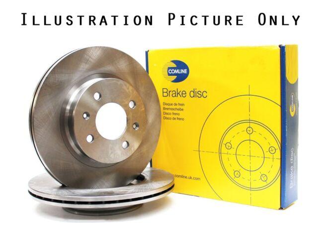 2x Genuine Comline To Fit Alfa Romeo 155 Front Axle Brake Discs Vented 283.6mm