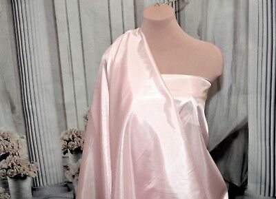"""SILKY HABUTAI FABRIC BABY PINK  FLOWING  SCARFS GOWNS BLOUSES 45"""" BTY     for sale  Shipping to India"""