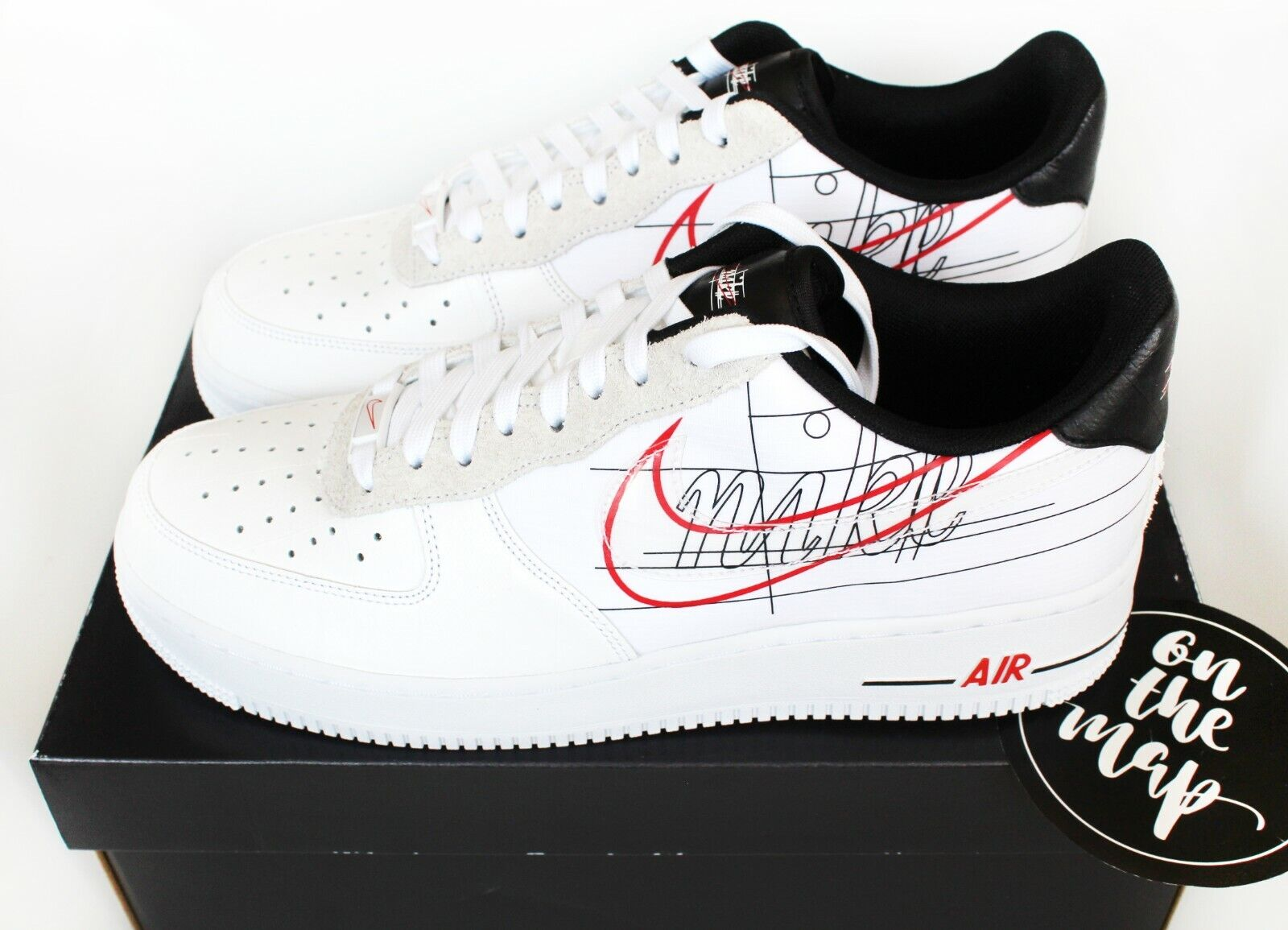 Nike Air Force 1 AF1 '07 LV8 Script Swoosh Pack White UK 5 7 8 9 10 11 US New