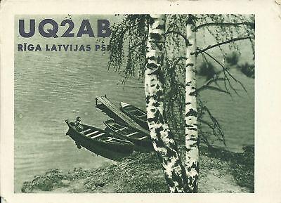 OLD VINTAGE UQ2AB RIGA LATVIAN SSR AMATEUR RADIO QSL CARD