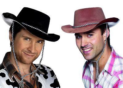 Adult Cowboy Hat Value Velvet-Feel EVA Foam Western Costume Womens Mens - Foam Cowboy Hats