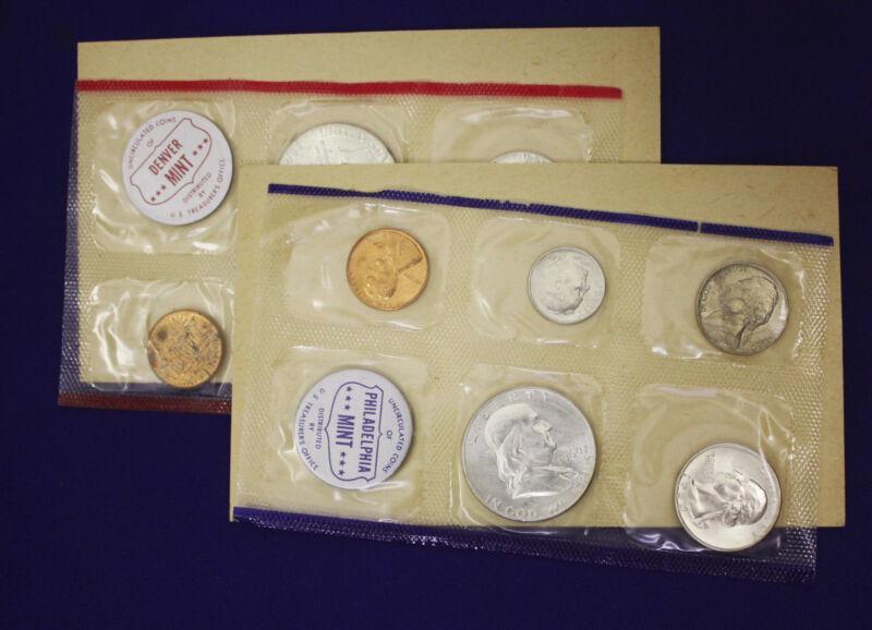 "1960 Official U.S. Mint Set. Complete and original. 10 coins Both ""P"" & ""D"""