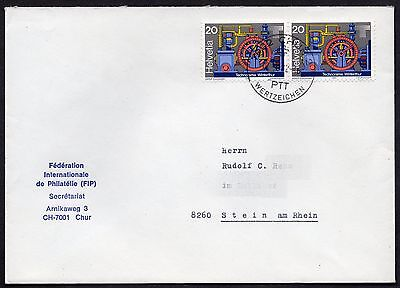 Switzerland: Cover with pair of 1981 20c publicity stamps