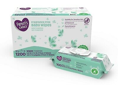 Parent's Choice Fragrance Baby Wipes - 1200 Counts *FAST SHIPPING*