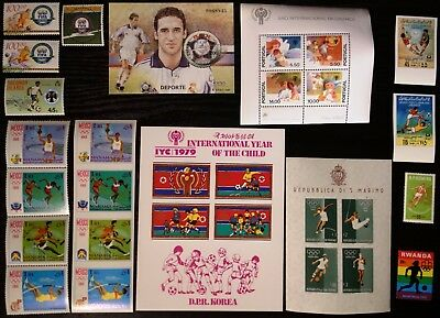 Soccer, Football collection, some imperf, MNH (333)