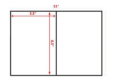 Straight Cut 1000 Half Sheet Self Adhesive 8.5 X 5.5 Shipping Labels Luckyleo