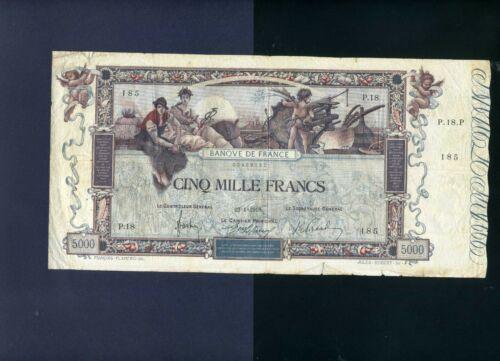 France 5000 francs 1918 (1938) Flameng P76 - F/VF