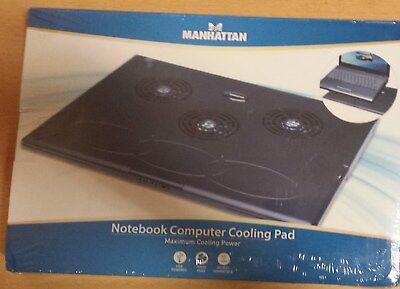 3 Lüfter Kühler Pad (Notebook Kühler Unterlage Cooling Pad Manhattan 3 Lüfter)