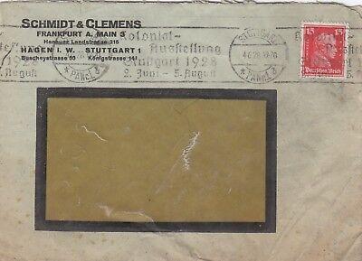 FRANKFURT/M., Briefumschlag 1928, Schmidt & Clemens