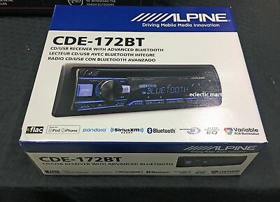 Alpine Cde 172Bt Cd Mp3 Usb Ipod Iphone Android Aoa  Bluetooth Receiver Cde172bt