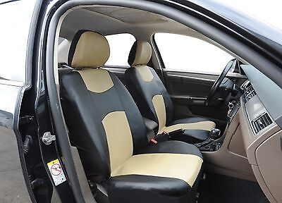 A159 B/T Leather Like 2 Front Bucket Car Seat Cover Compatible To Toyota Corolla for sale  USA