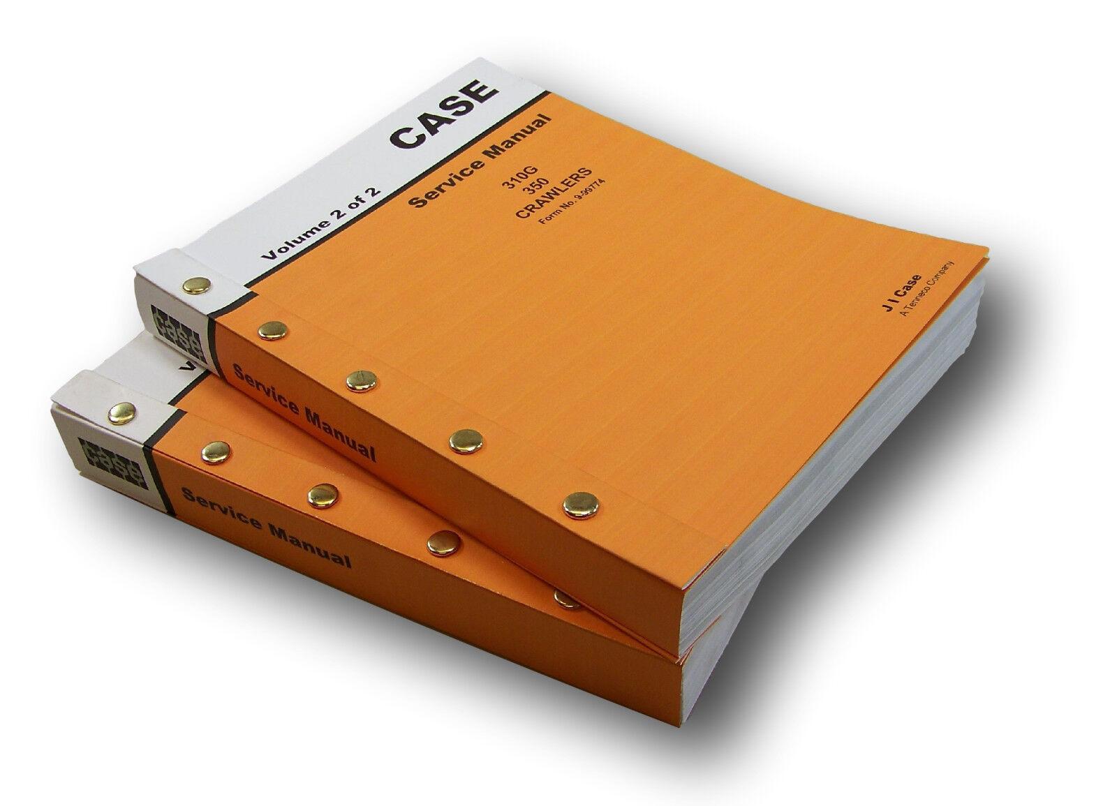1 of 12FREE Shipping Case 310G 350 Crawler Dozer Backhoe Service Repair  Manual Technical Shop Book