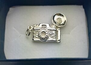 New! Sterling silver camera pendant charm