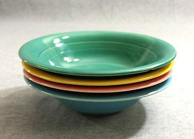 """Lot of 4 Vintage Homer Laughlin Harlequin 5 1/2"""" Fruit Bowls - Fiestaware"""